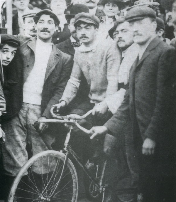 Maurice Garin at the 1897 Paris-Roubaix