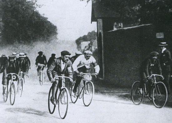 Maurice Garin racing in the 1903 Tour de France