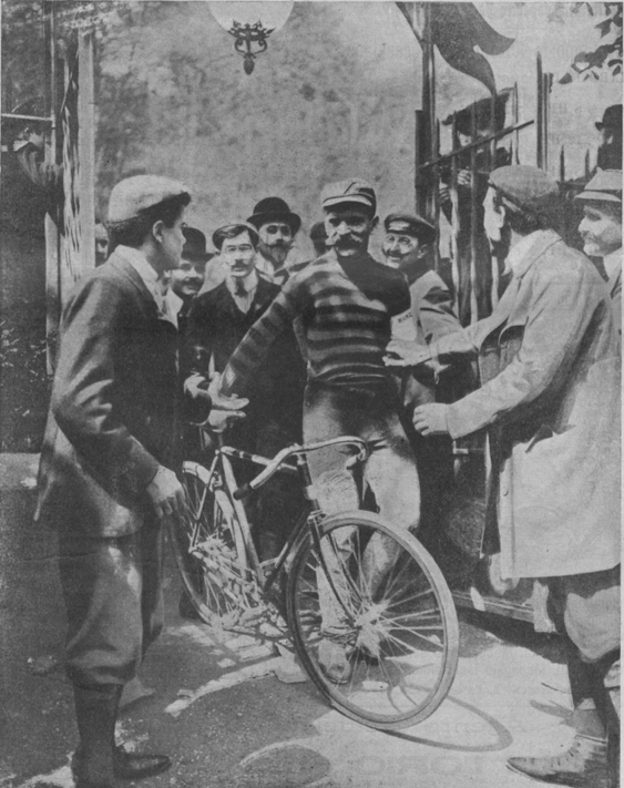 Maurice Garin after the 1903 Tour de France