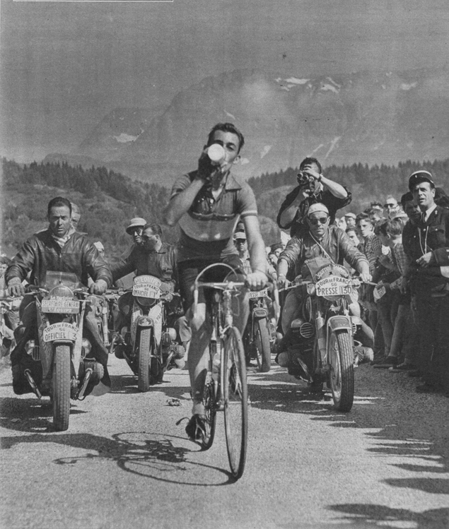Charly Gaul in the 1956 Tour de France