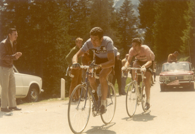 Felice Gimondi and Eddy Merckx in the 1970 Giro