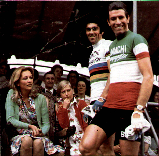 Ginodni with Basso at 1973 Giro start