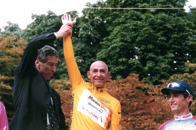 Felice Gimondi and Marco Pantani at the 1998 Tour de France