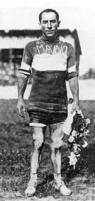 Costante Girardegno after winning the 1923 Giro d'Italia