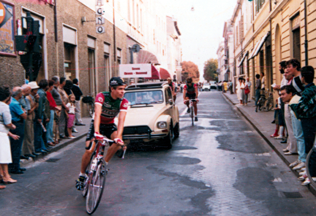 Andy Hampsten at the 1985 Coppa placci