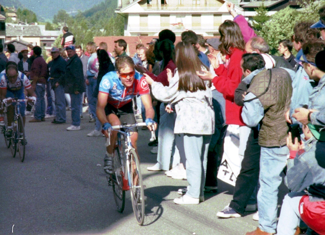Hampsten ins tage 15 of the 1994 Giro