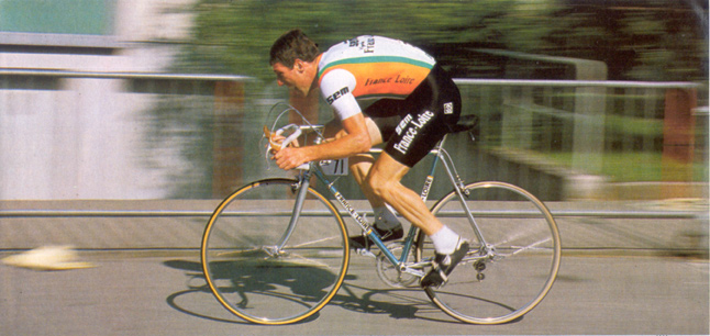 Sean Kelly rides the 1992 Tour de France prologue