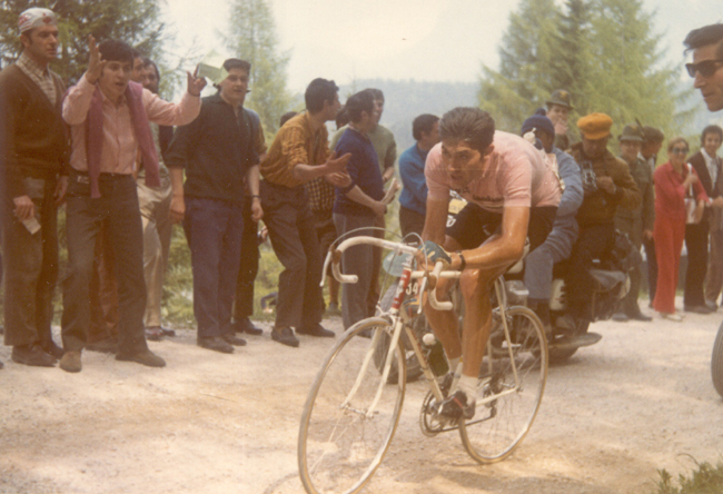 Eddy Merckx in stage 19 of the 1970 Giro