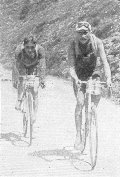Herni Pelissier and Oscar Egg in the 1914 Tour de France