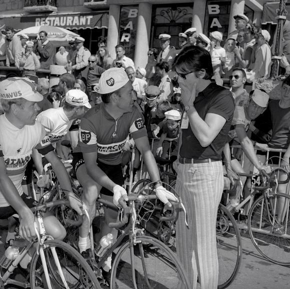 Jean Stablinski and Aain Delon at 1968 Tour de France