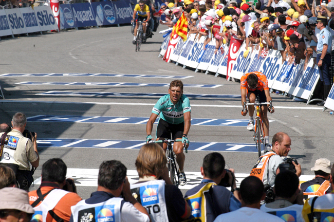 Ullrich finishes 2003  Tour de France stage 13