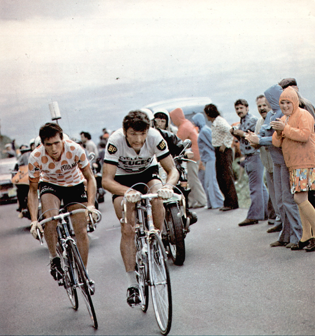 Lucien van Impe and Bernard Thévenet in the 1975 Tour de France