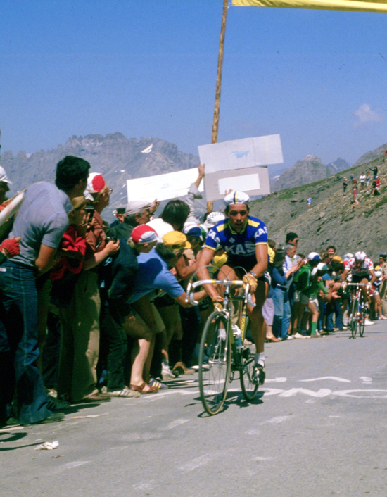 Lucien van Impe climbs to l'Alpe d'Huez in the 1979 Tour de France