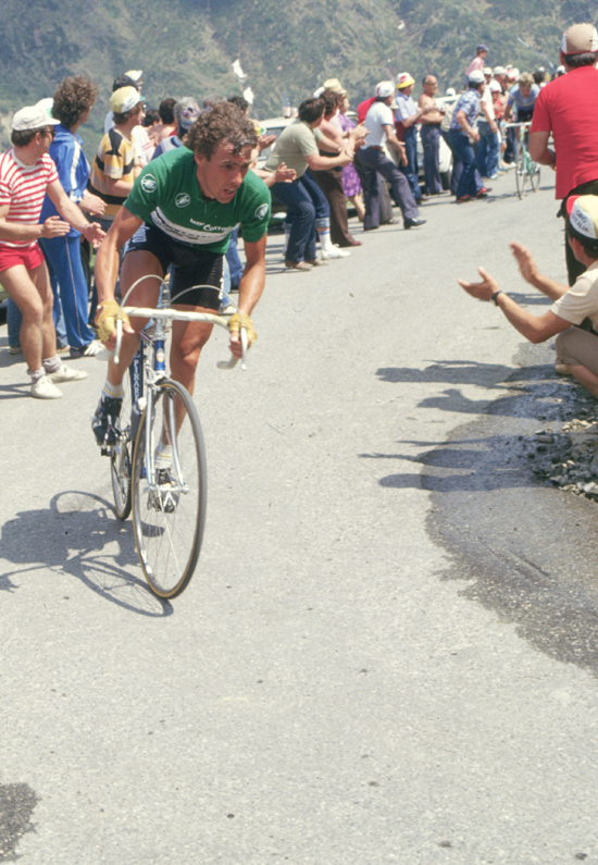 Lucien van Impe rides to Boario Terme in stage 17 of the 1982 Giro d'Italia