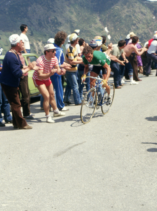 Lucien van Impe riding to Boario Terme n stage 17 of the Giro d'Italia