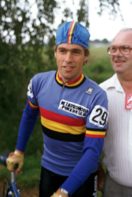 Lucien van Impe ready to ride the 1983 World Championship road race at Altenrhein, Switzerland
