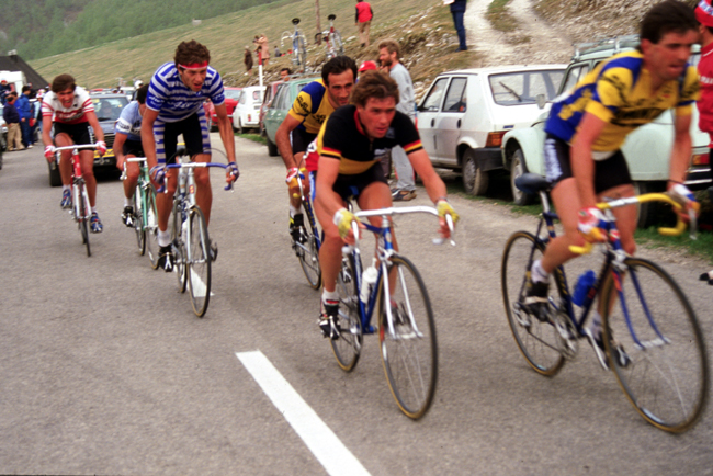 Lucien van Impe in stage 18 of the 1984 Giro d'Italia