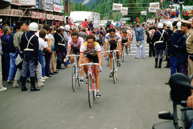 Van Impe in stage 20 of the 1985 Giro d'Italia