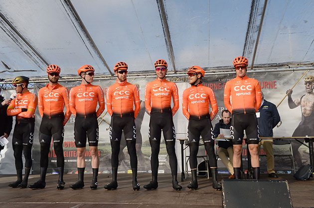 CCC Team is presented during the starting ceremonies