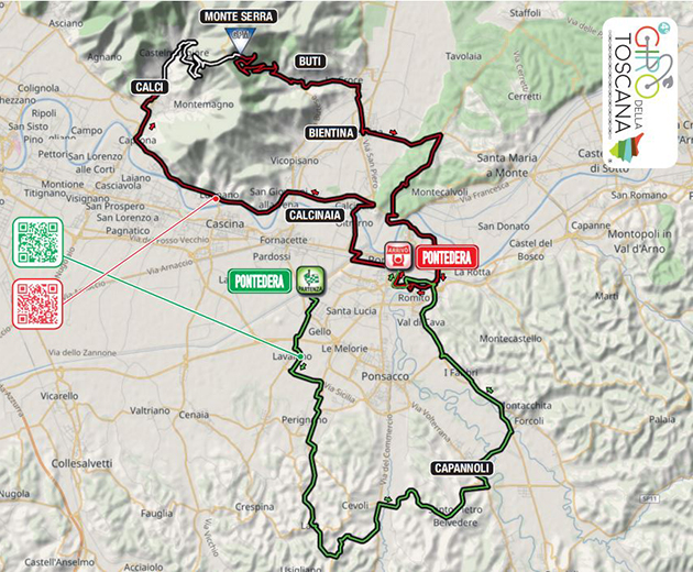 Tour of Tuscany map