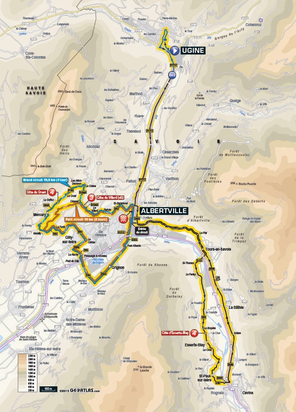 Dauphine stage 1 map