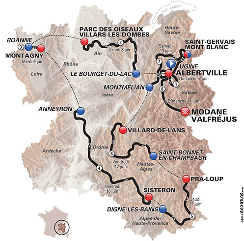 2015 Dauphine map
