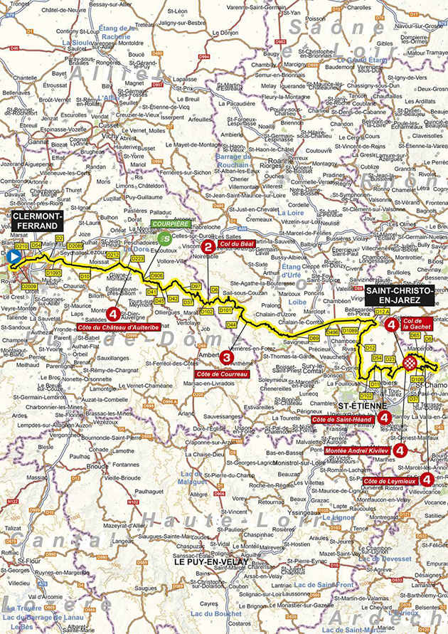 2020 Dauphine stage 1 map