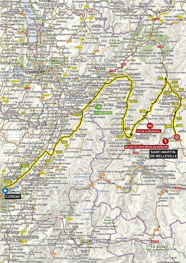 Dauphine Stage 3 map