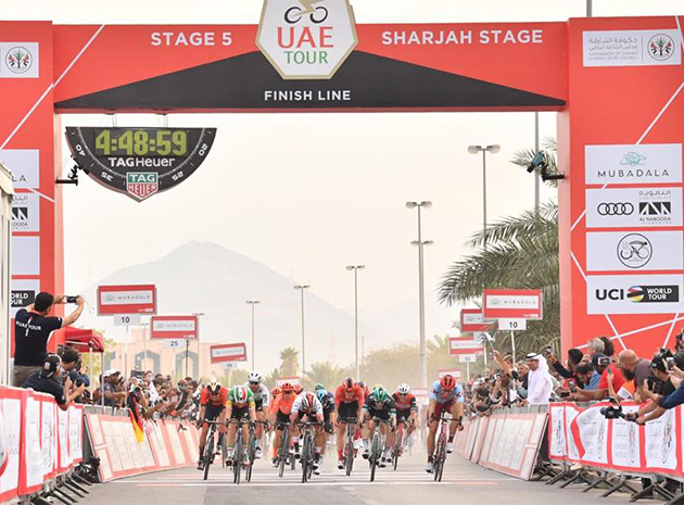 UAE Tour stage five finish