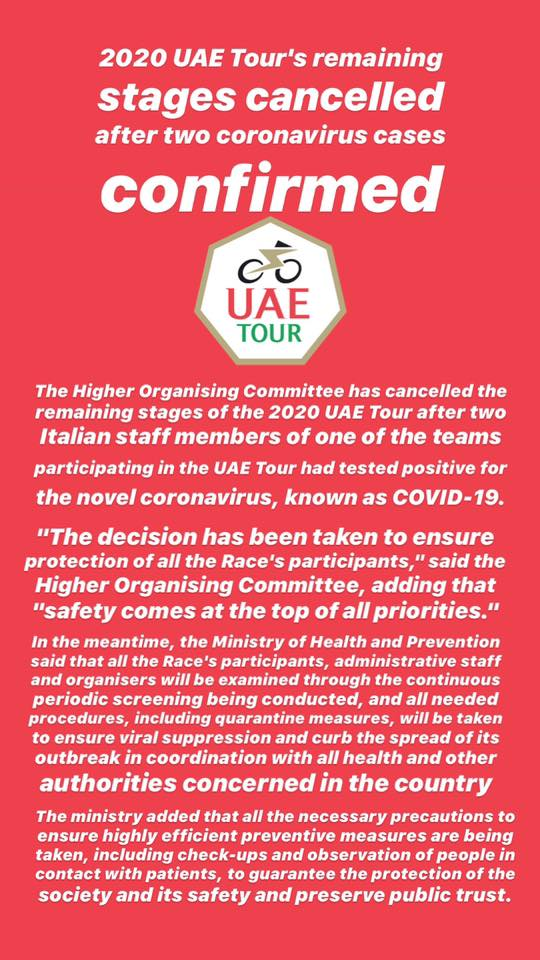 UAE Tour cancelled