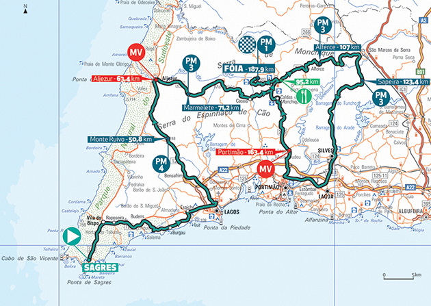 Algarve stage 2 map