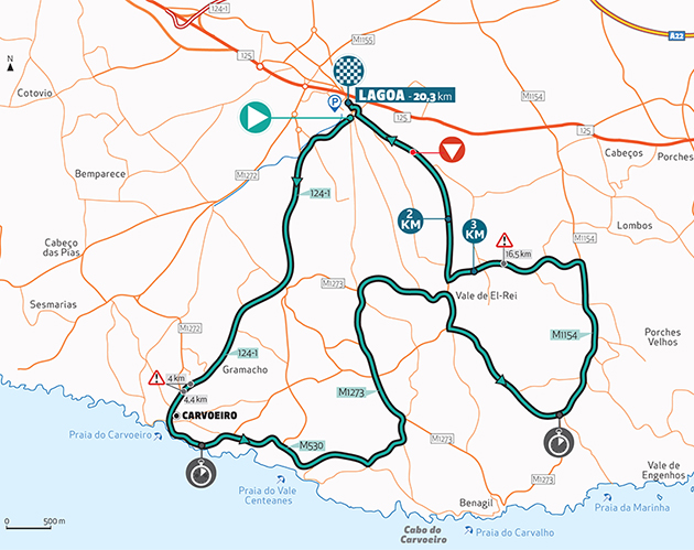 Algarve stage 3 map