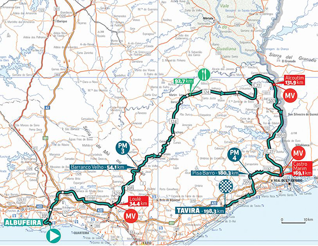 Algarve Tur stage 4 map