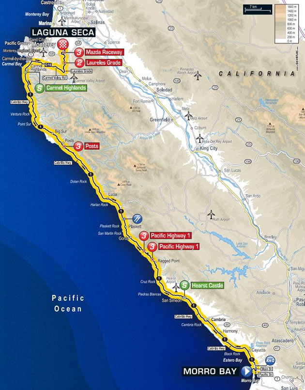 Tour of California stage 4 map
