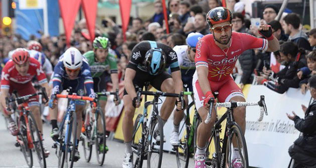 Nacer Bouhanni wins stage 1