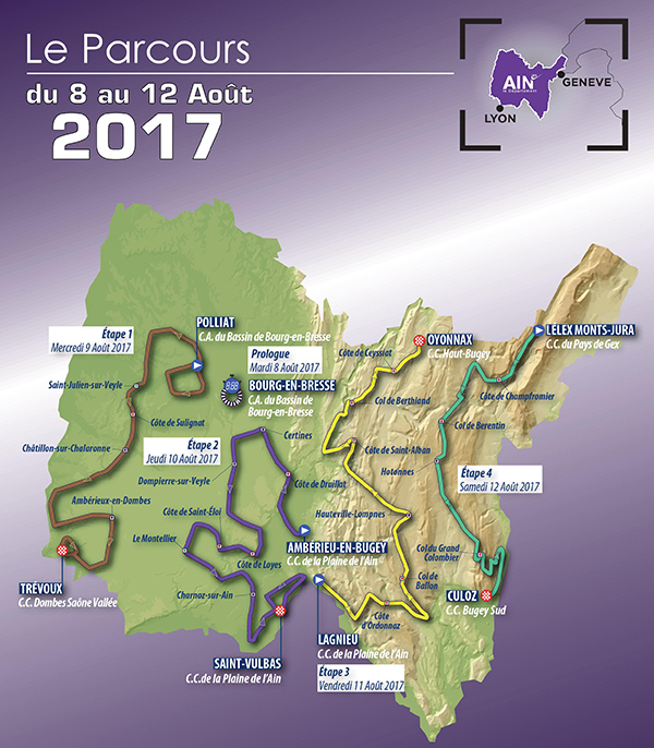 Tour l'Ain map