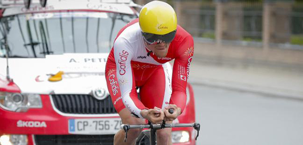 Adrien petit wns the prologue of the 2015 Luxembourg tour