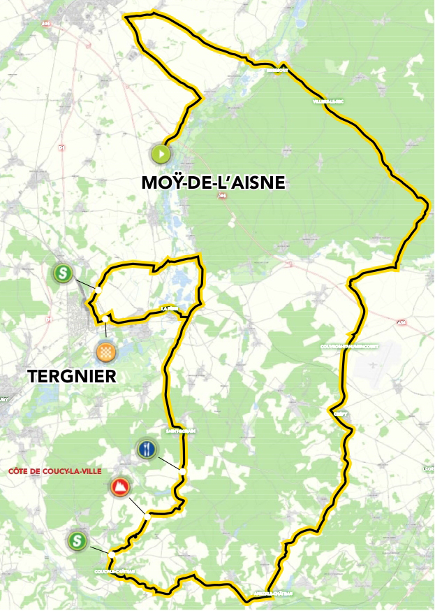 Tour of Picardie stage 1 map