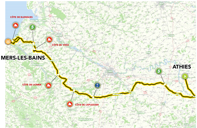 Tour of Picardie stage 3 map