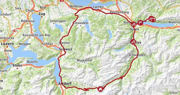 Swiss tour stage 6 map