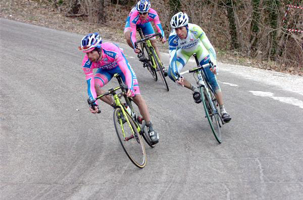 Scarponi with Nibali and Cunego