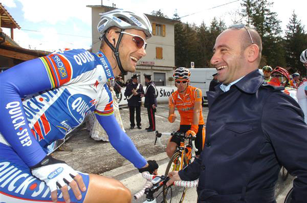 Tom Boonen and Paolo Bettini