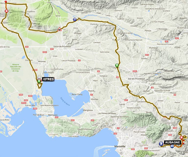 Tour Provence stage 1 map