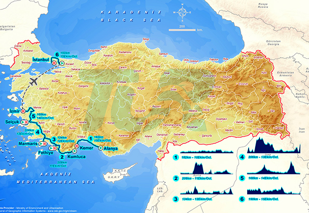 2-17 Tour of Turkey map