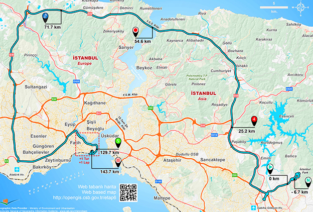 Tour of turkey stage 6 map