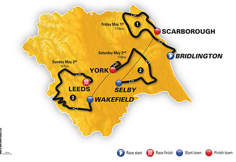 Tour of Yorkshire map