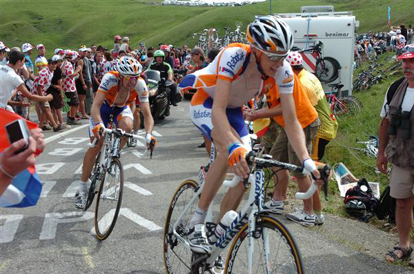 Denis Menchov and Robert Gesink