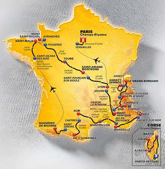 2013 Tour de France by BikeRaceInfo