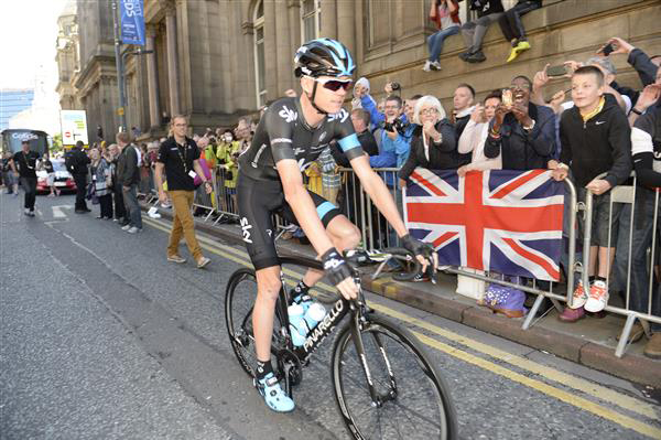 Chris Froome at the start of stage 1