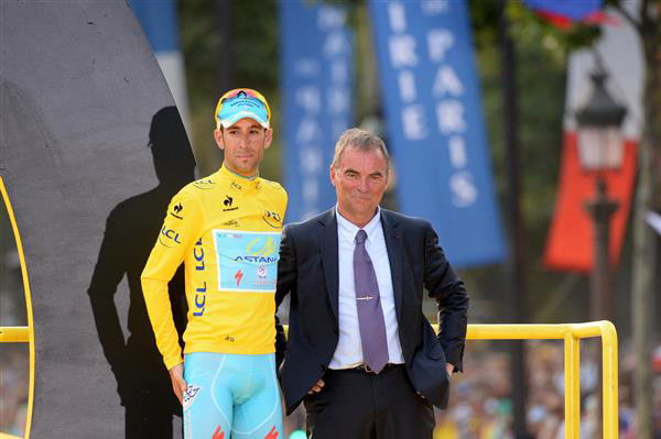 Vincenzo Nibali with bernard Hinault